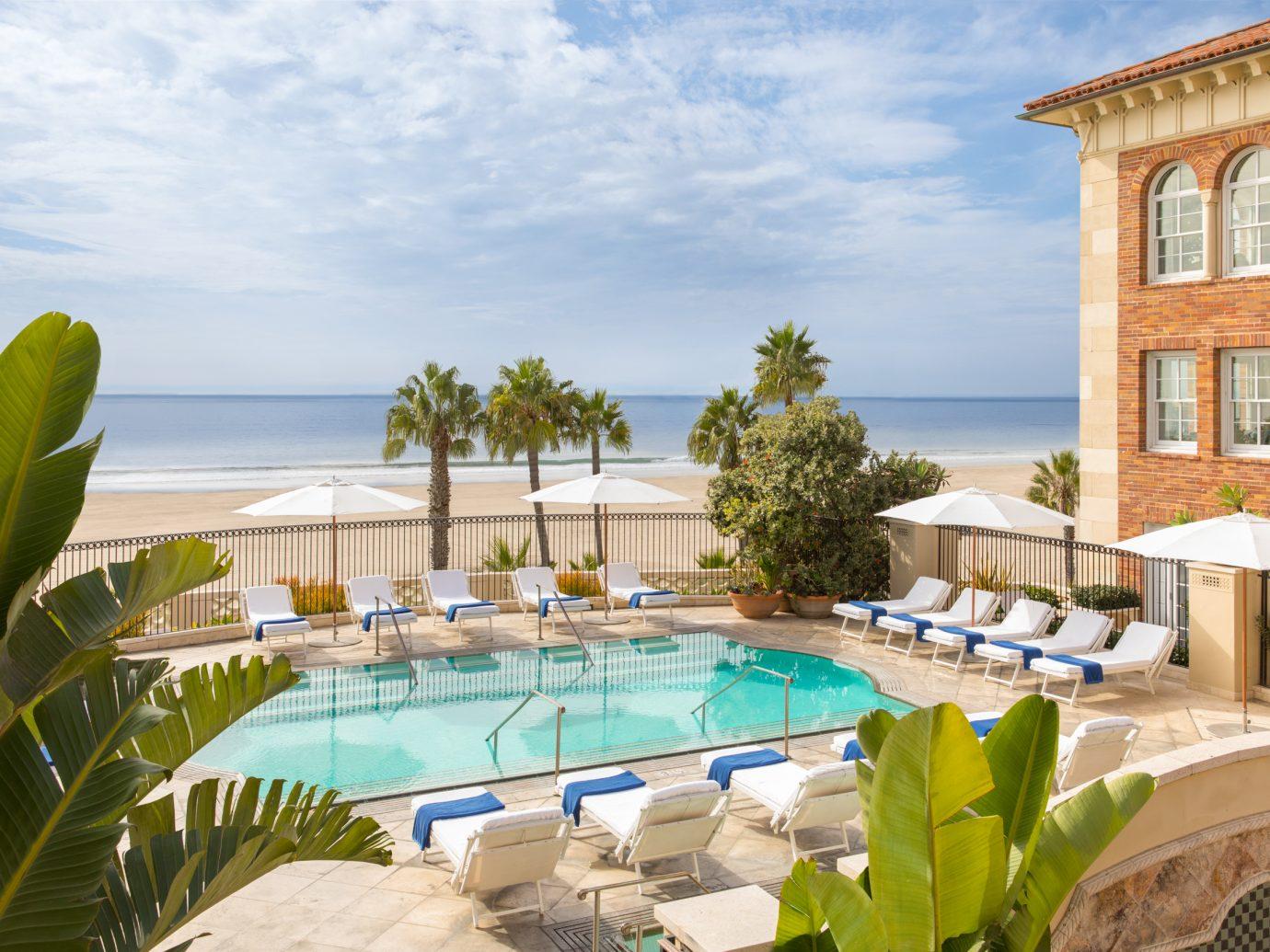 The pool at Casa Del Mar in Santa Monica, California.