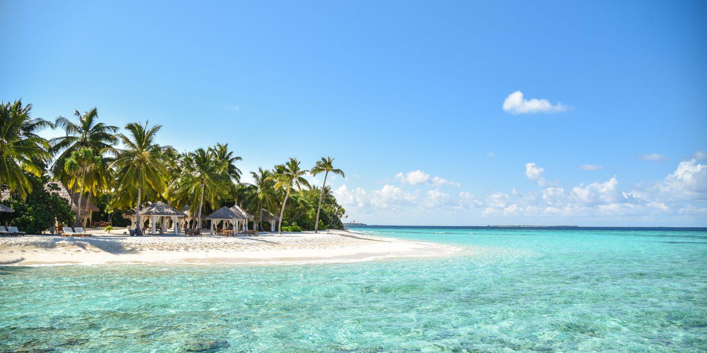 clear blur water at Reethi Faru Resort, Raa Atoll, Maldives