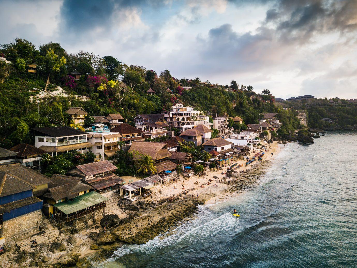 Aerial view of a Beautiful resort at Bali