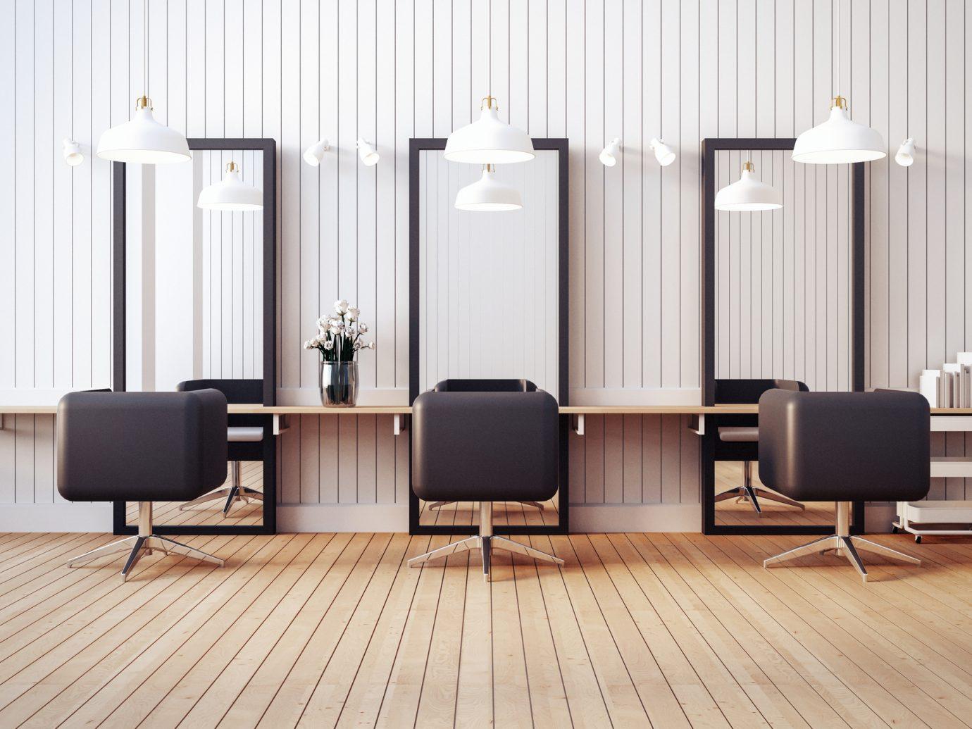Modern salon interior
