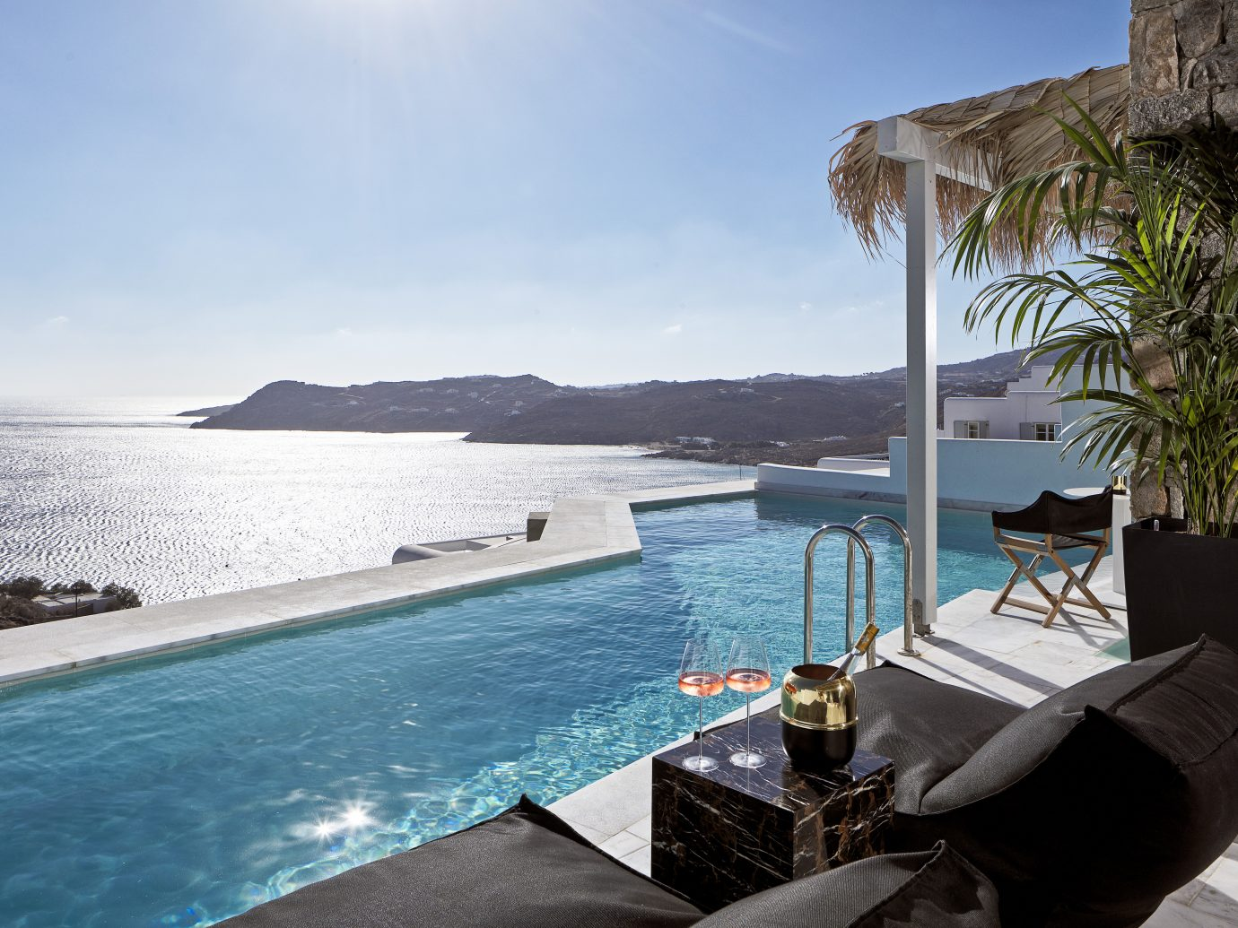 view from Myconian Villa Collection, Mykonos, Greece