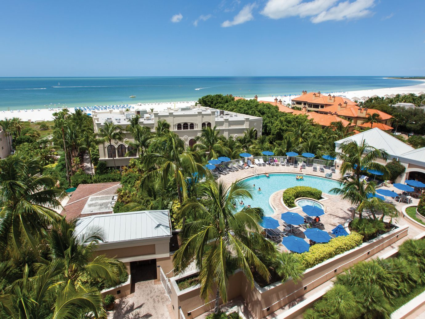 Aerial of Marco Beach Ocean Resort, Marco Island, FL
