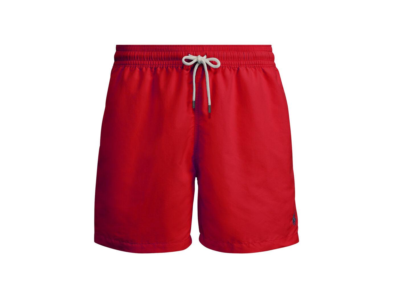Polo Ralph Lauren Traveler Swim Trunks in Red