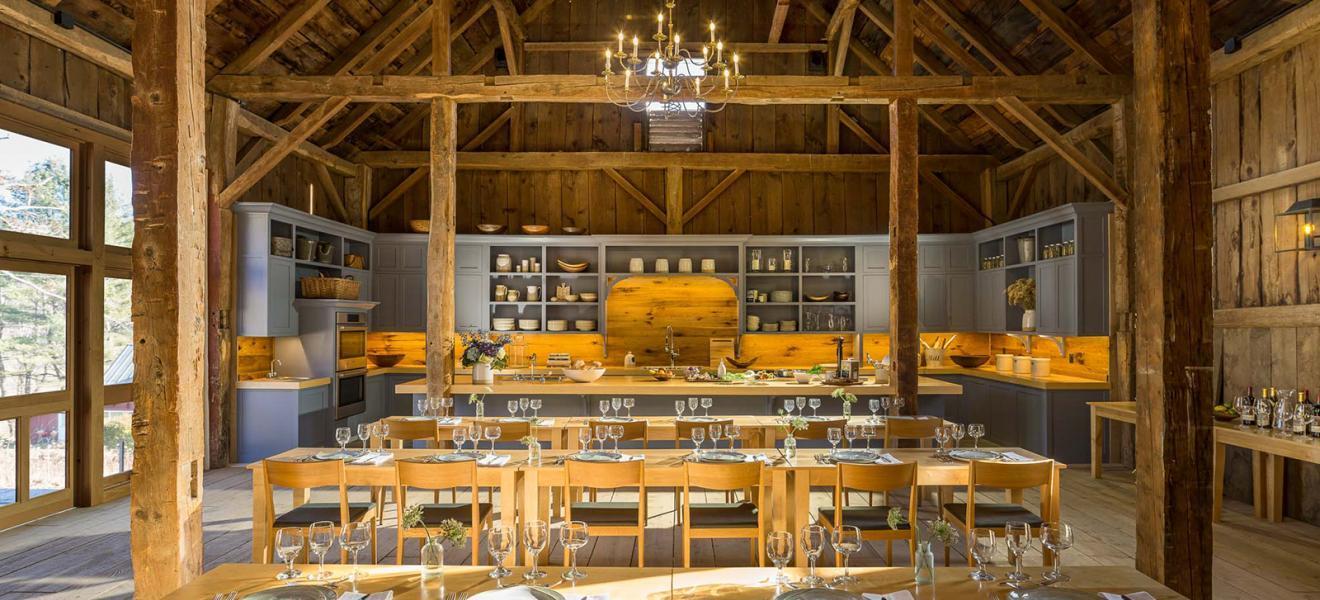Dinner set up at Woodstock Inn & Resort