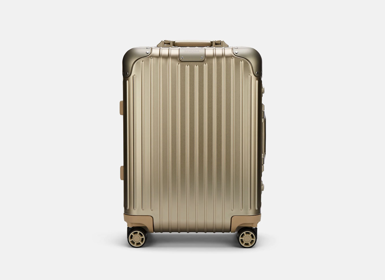 Rimowa rolling carry on gold