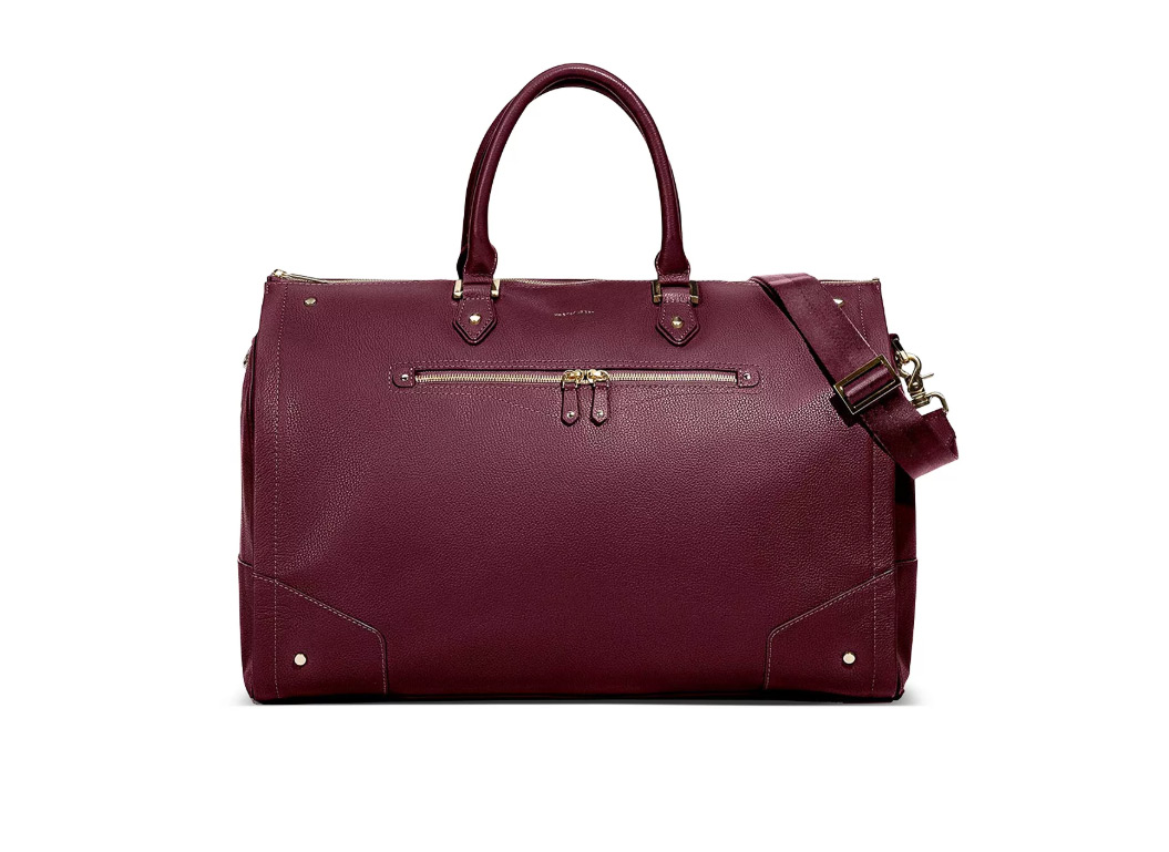 Hook and Albert Leather Garment Weekender Bag