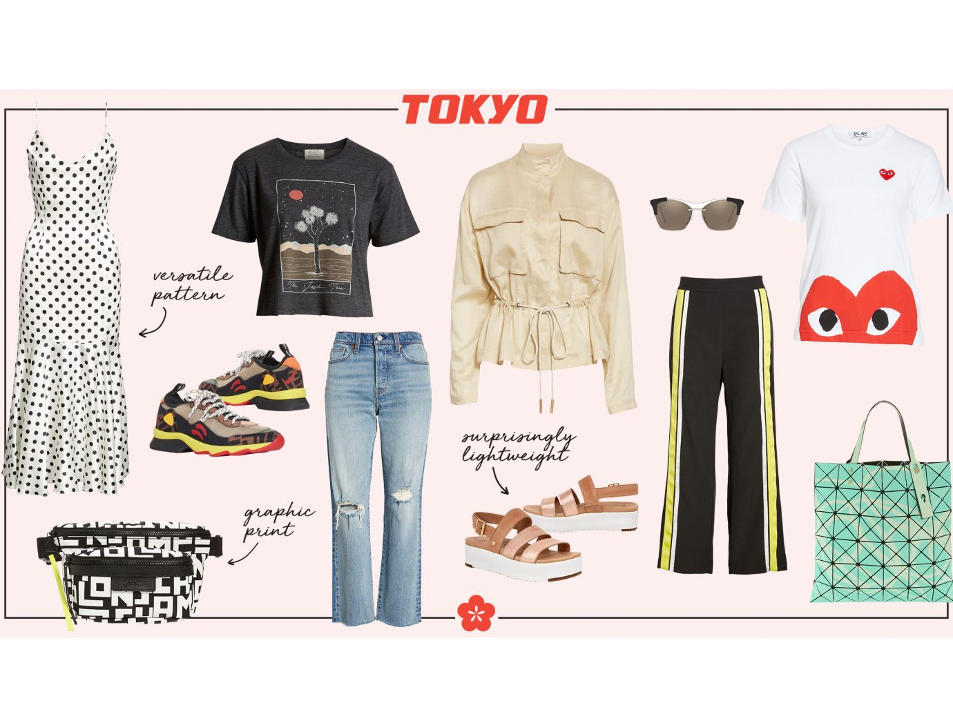 What to wear in Tokyo collage - women