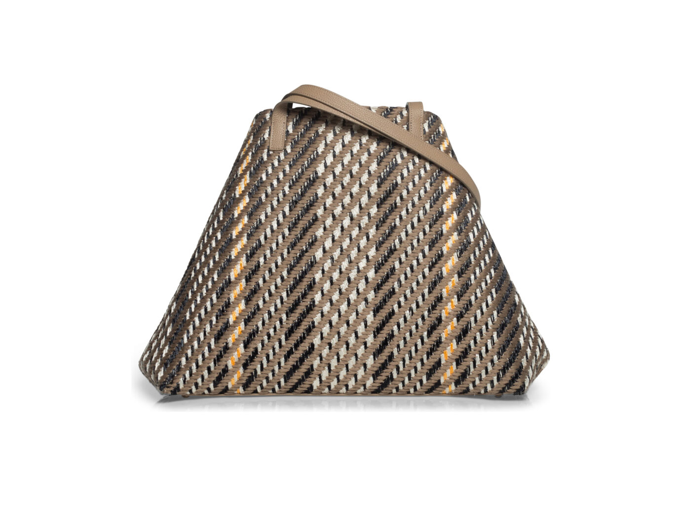 Akris Medium AI Raffia and Leather Tote