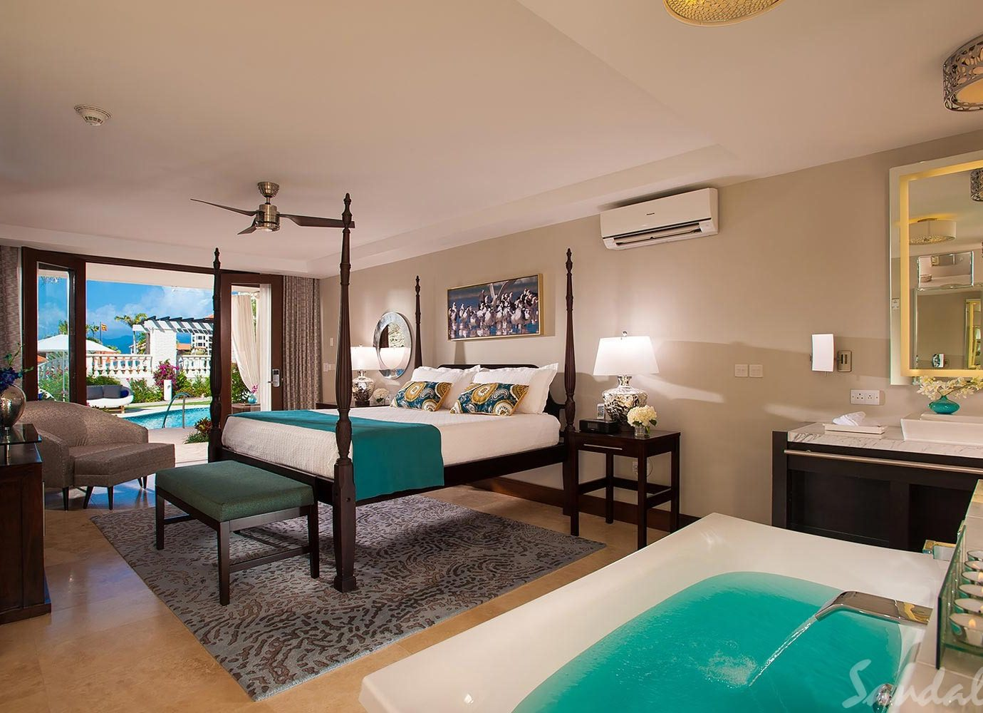 Bedroom at Sandals Grenada