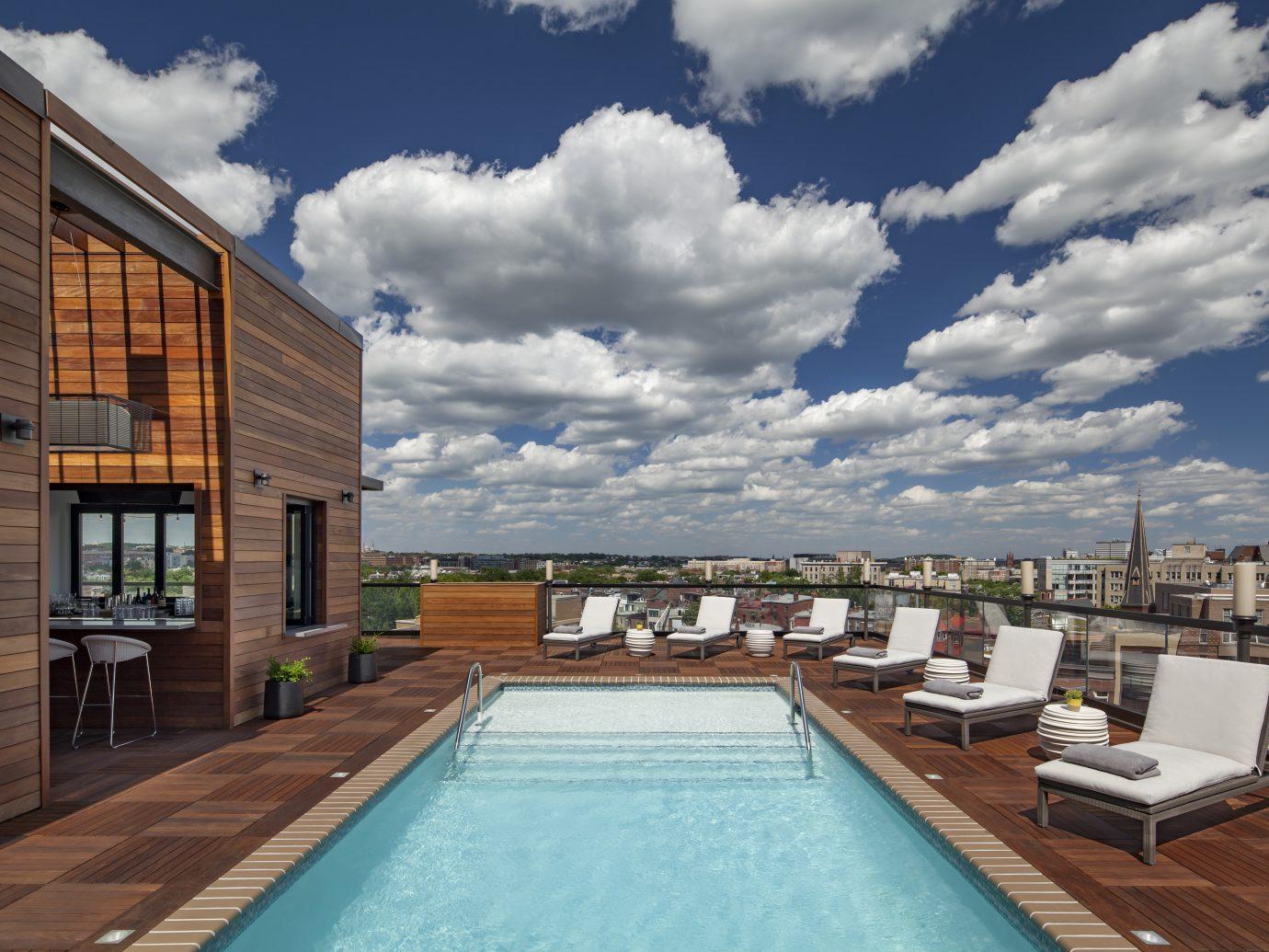 Pool and rooftop bar at Mason & Rook in Washington DC