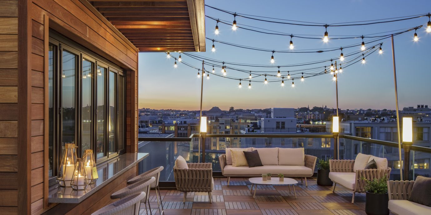 Rooftop bar at Mason & Rook in DC.