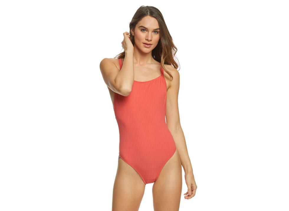 Seafolly Inka Rib 80's Tank One Piece Swimsuit