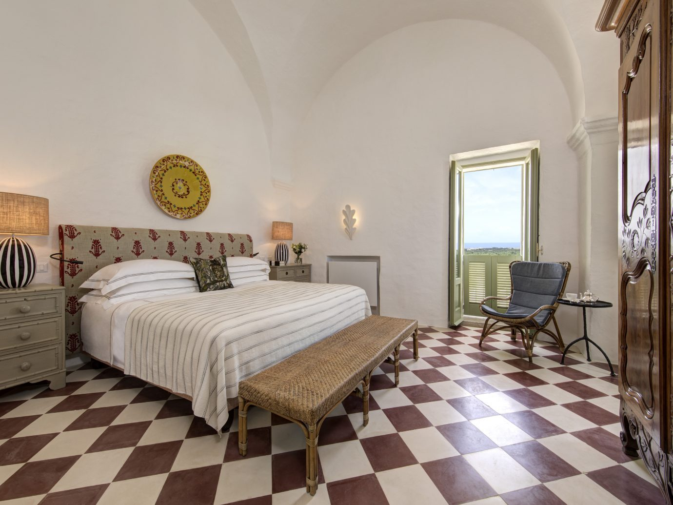 BEdroom at Masseria Torre Maizza