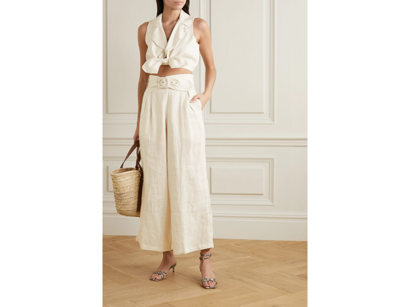 Faithfull The Brand Linen Cover-Up Matching Set