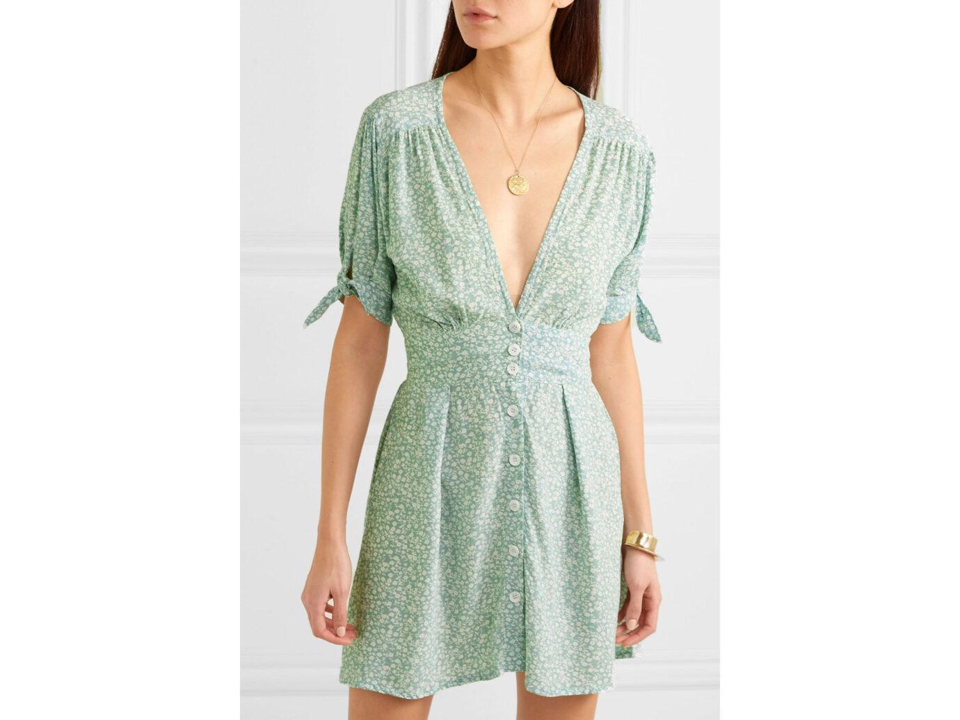 Faithfull The Brand Marianne floral-print crepe de chine mini dress