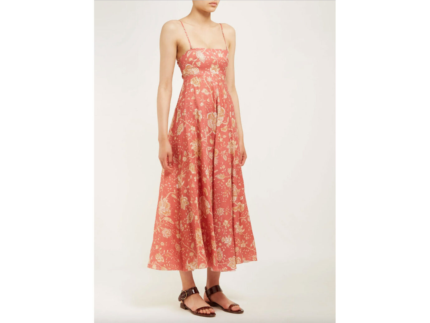 ZIMMERMANN Veneto floral-print linen maxi dress