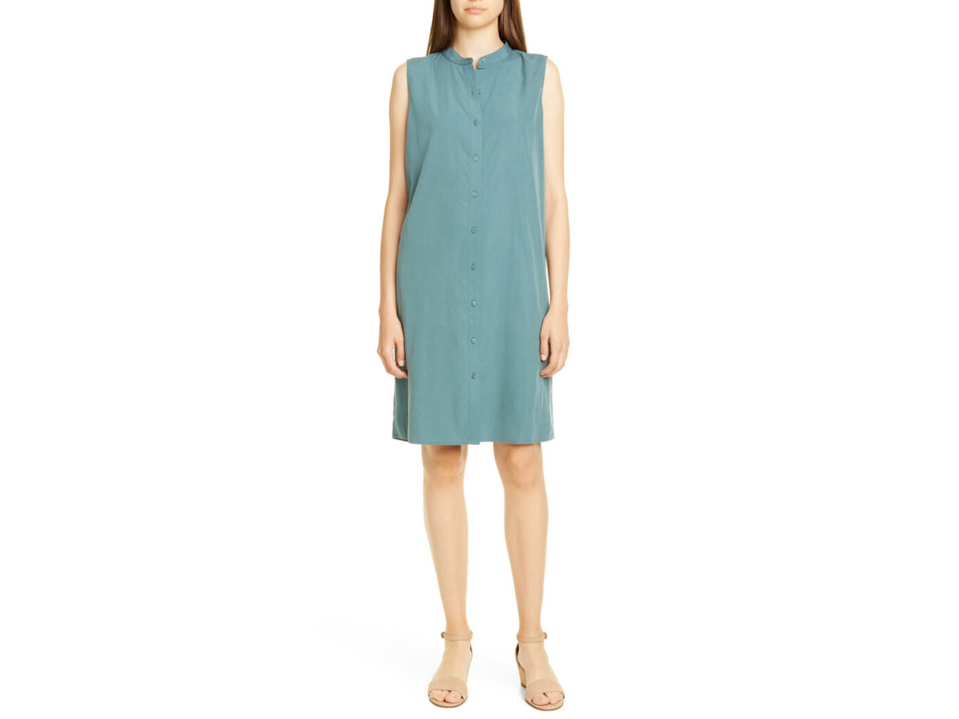 Eileen Fisher Band Collar Shift Dress
