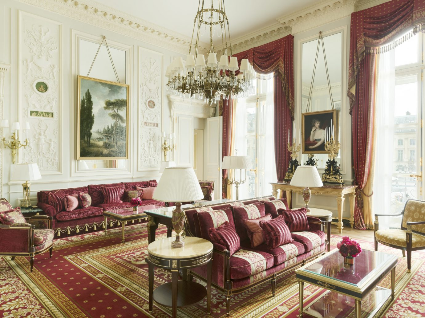 Living room at the Ritz Paris