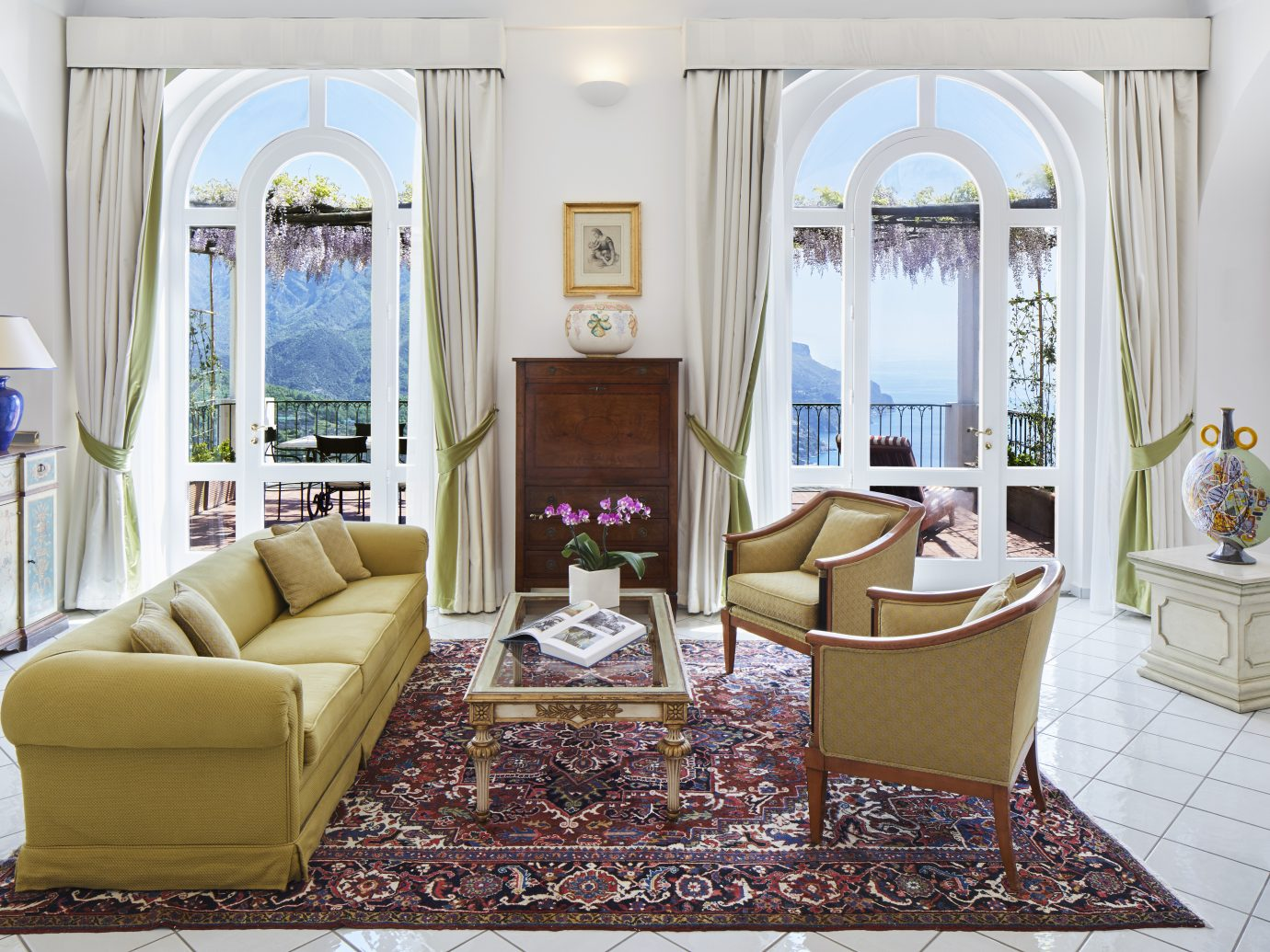 Living room at Palazzo Avino