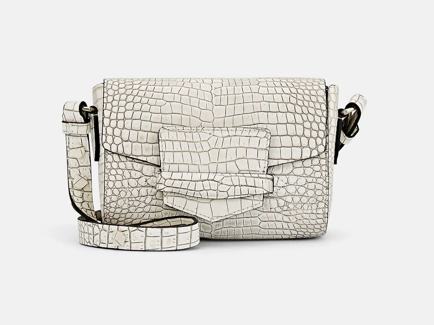 DRIES VAN NOTEN Crcodile-Embossed Leather Small Crossbody Bag