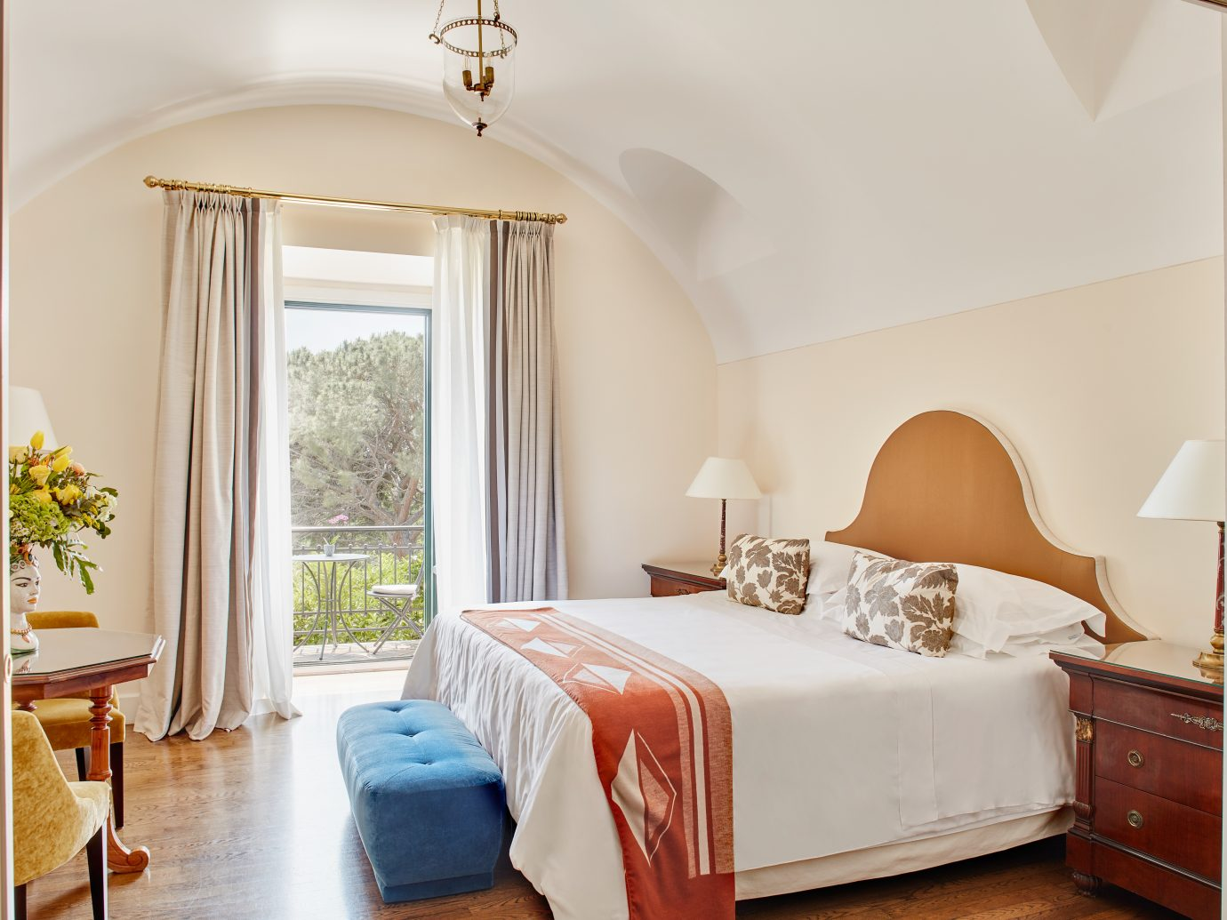 bedroom at Belmond Hotel Grand Timeo
