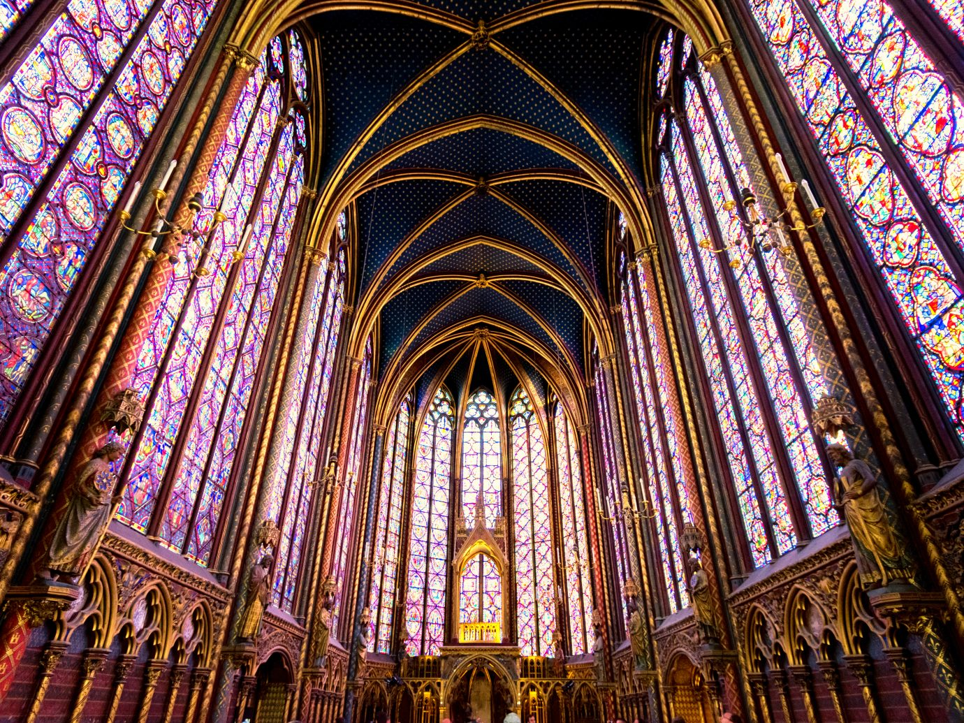 Sainte-Chapelle in Paris, France.