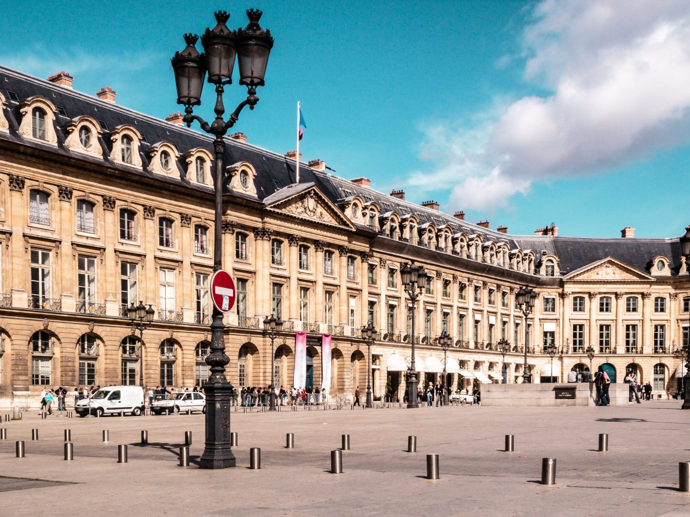 Photo of a Sunny Day in Place Vendome in Paris, France