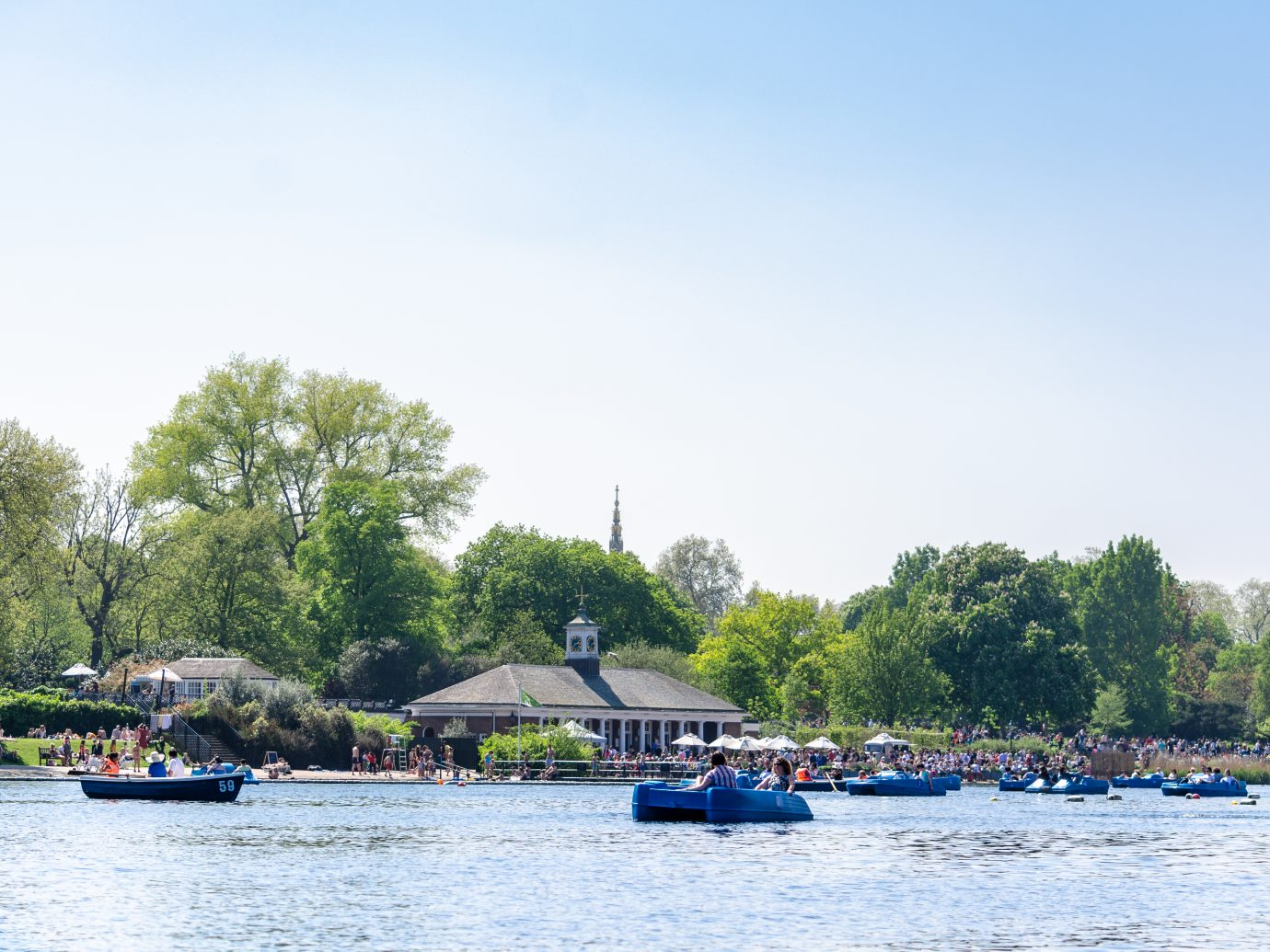 Weekend fun at the Serpentine lake in Hyde Park