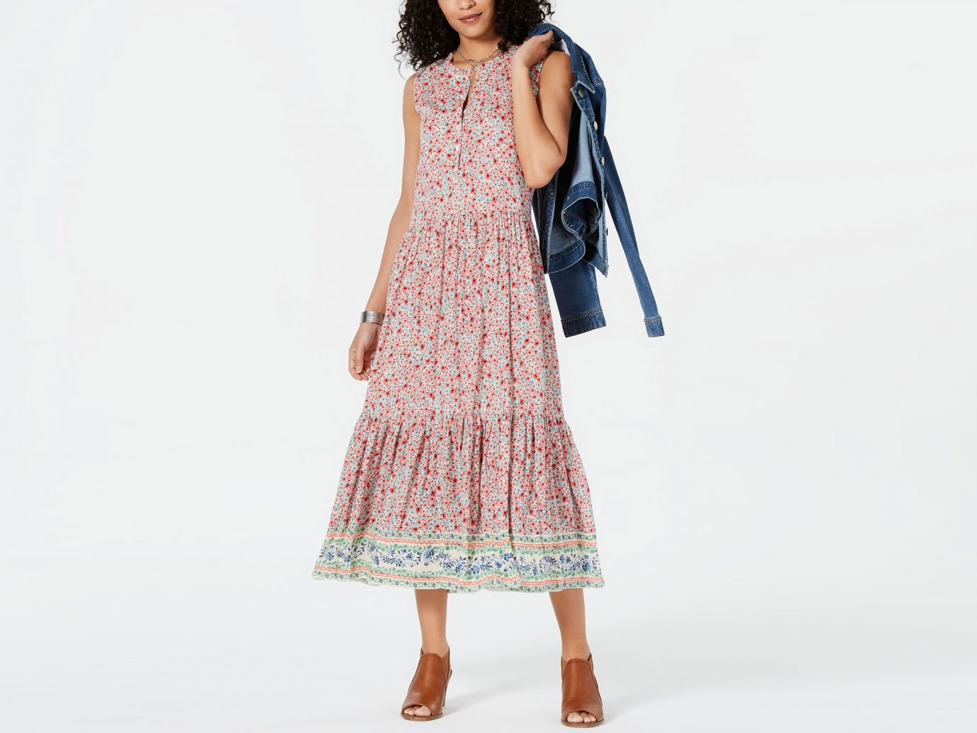Style & Co Printed Sleeveless Tiered Maxi Dress, Created for Macy's