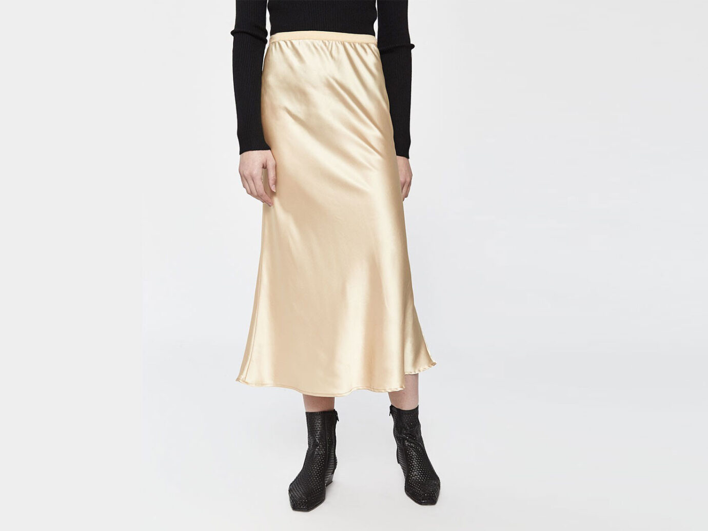 Stelen Madina Slip Skirt in Gold