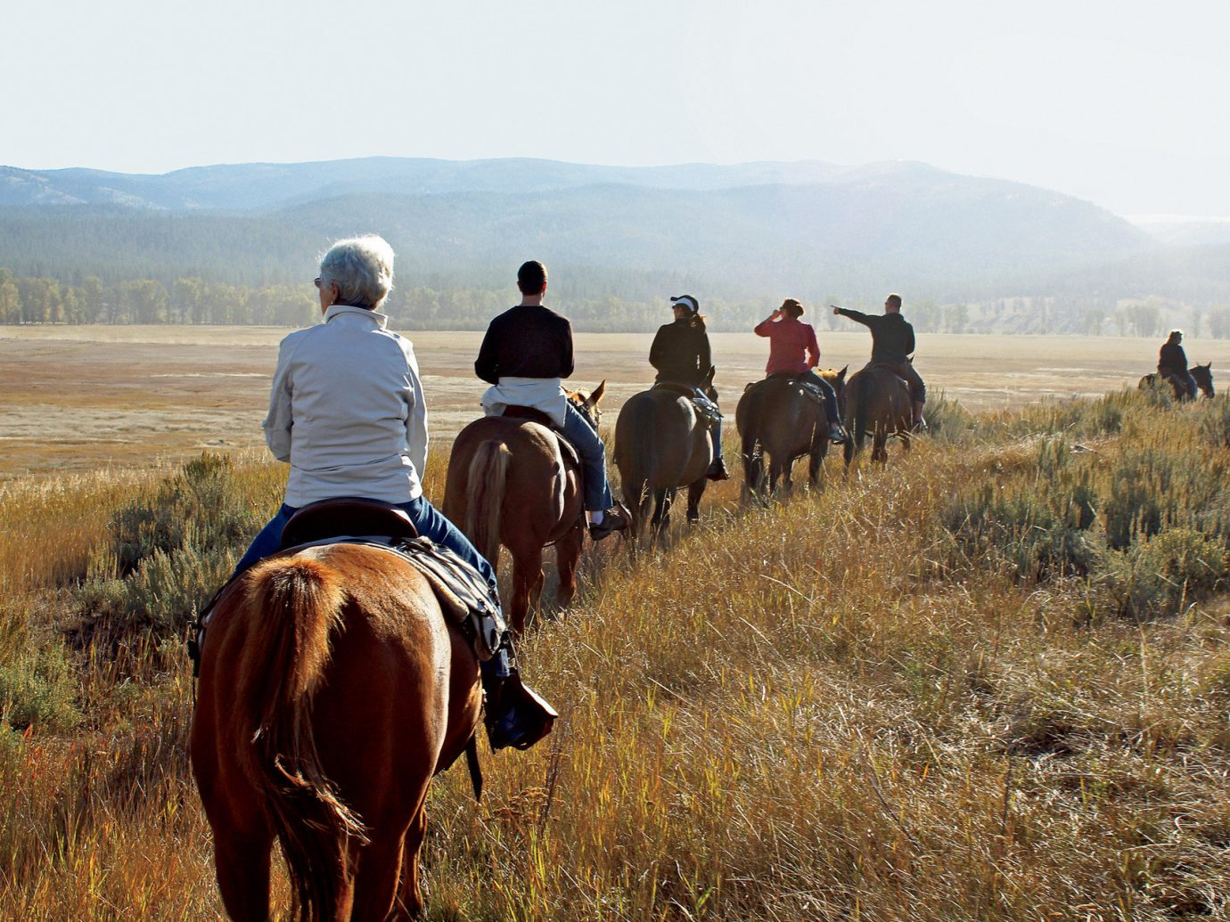 Horseback riding at The Resort at Paws Up