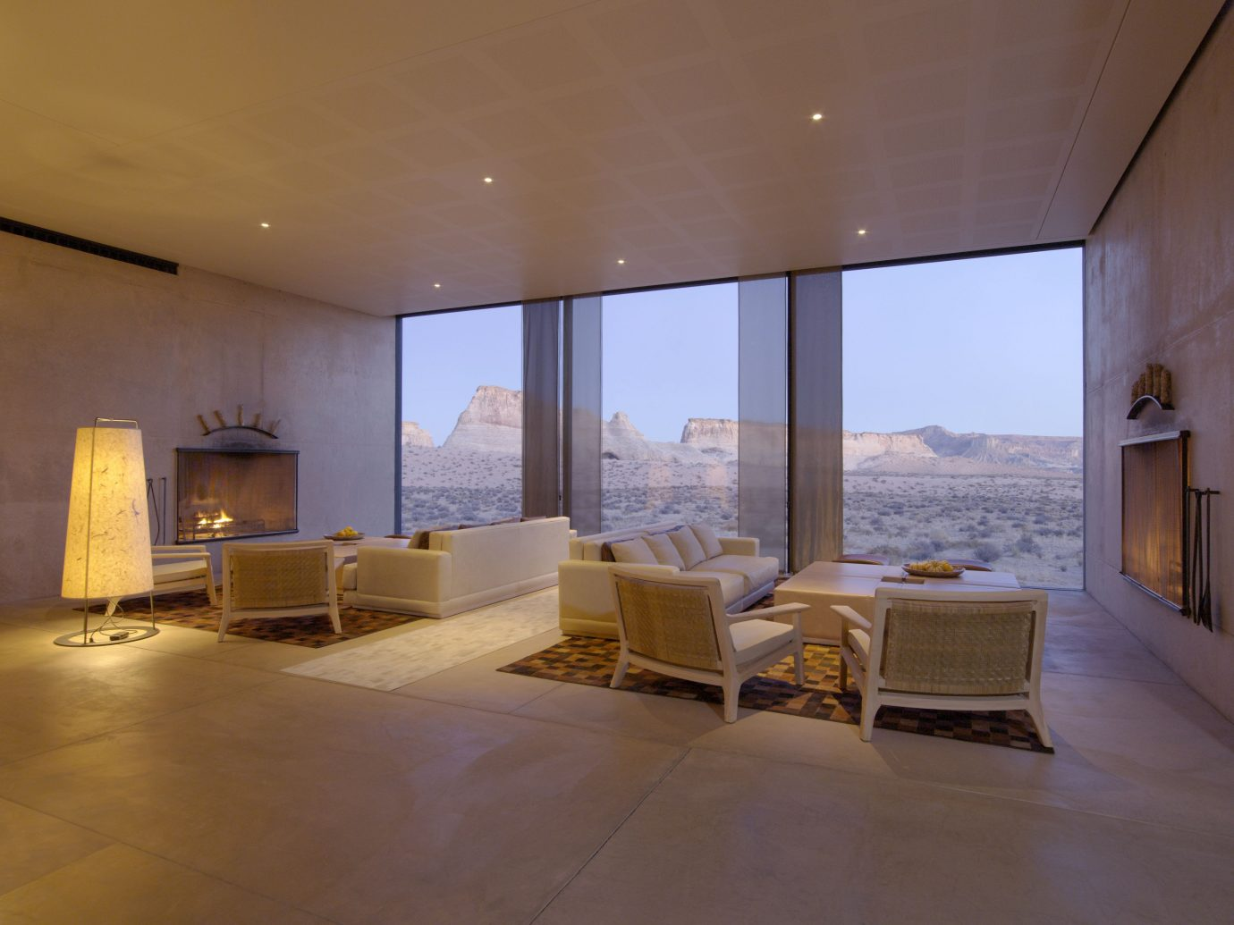 Living room at Amangiri, Utah