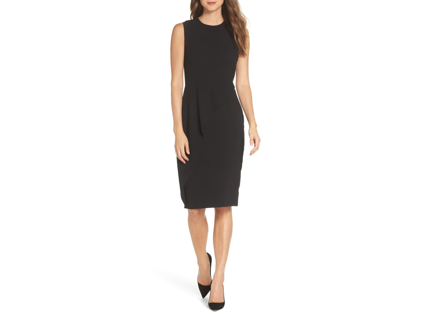 Eliza J Asymmetrical Ruffle Sheath Dress