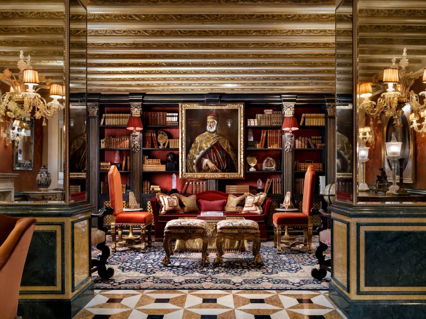 Library at Gritti Palace, Venice