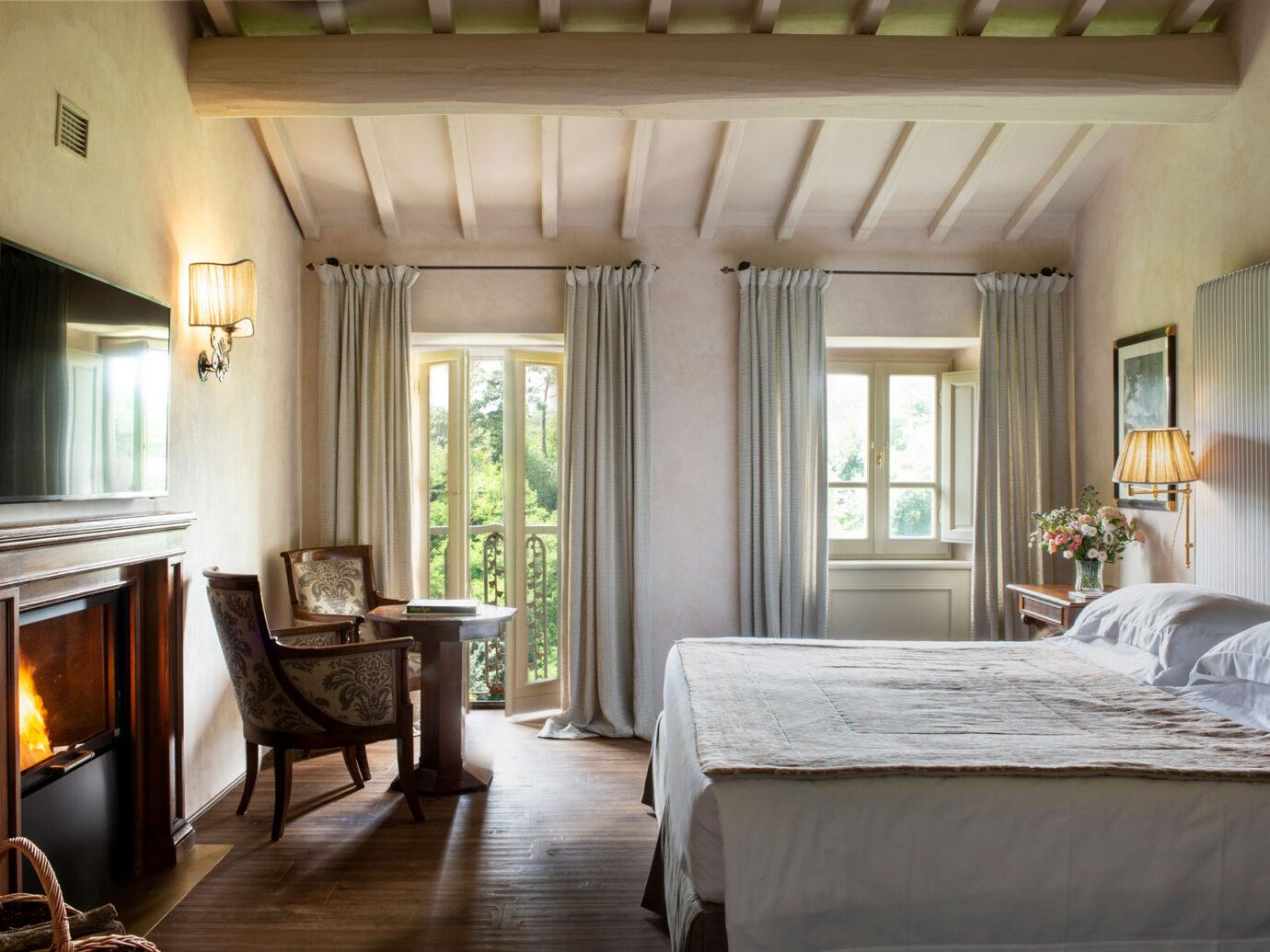 guestroom at Il Borro