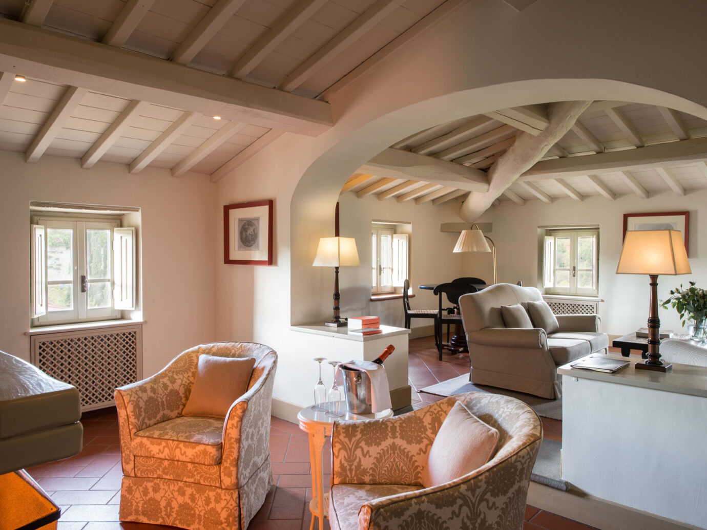 living room at Il Borro