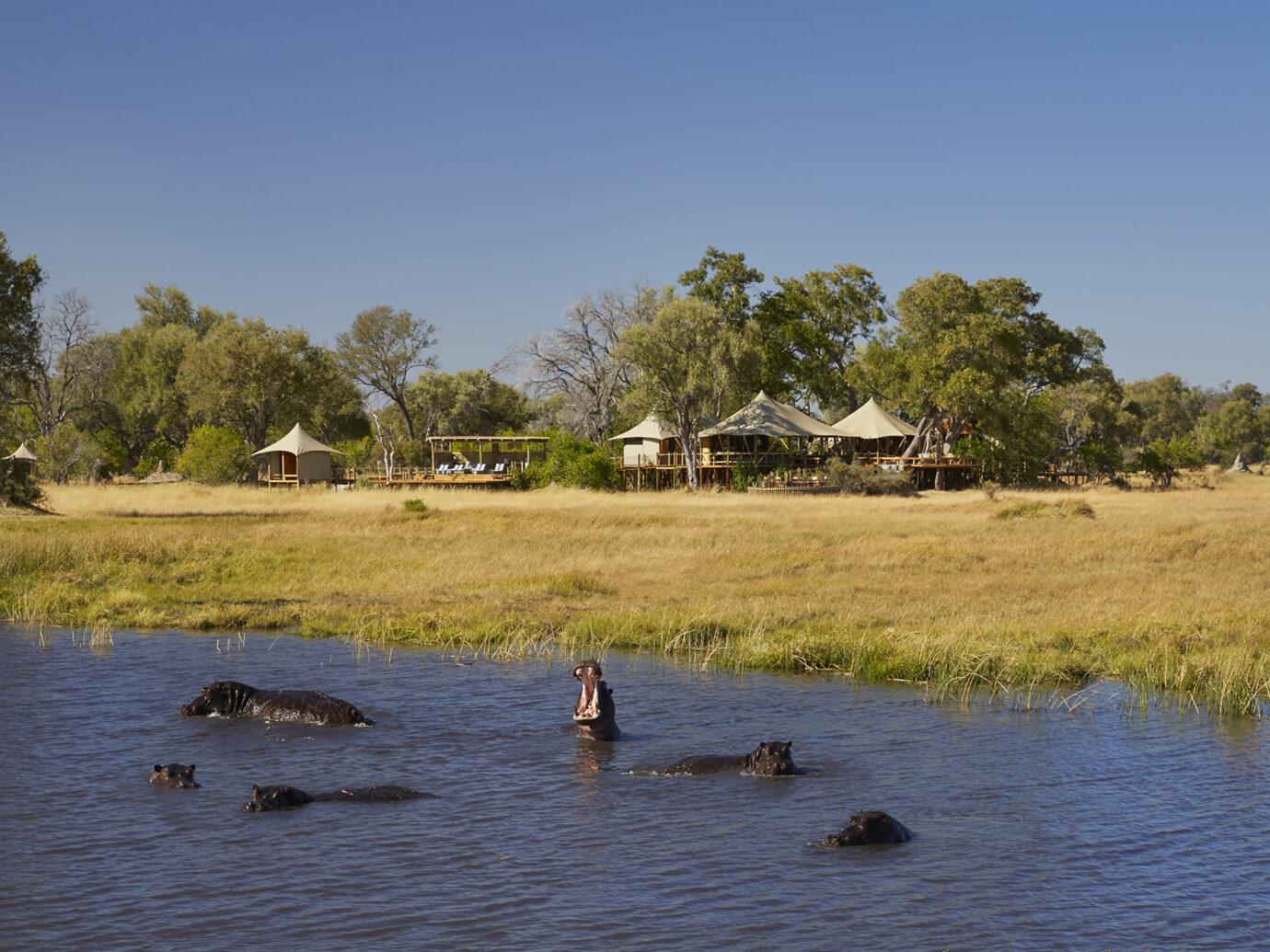 Exterior of Tuludi Camp, Botswana