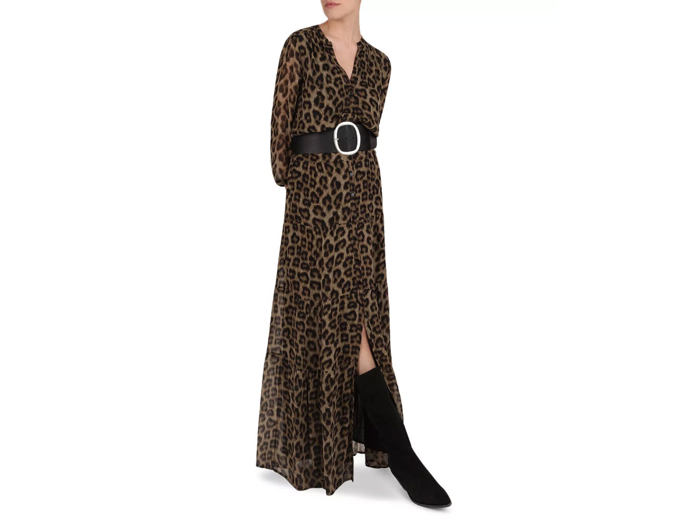 ba&sh Flake Leopard Print Maxi Dress