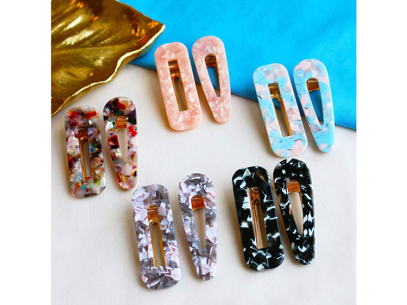 Cholet Acrylic Resin Hair Barrettes
