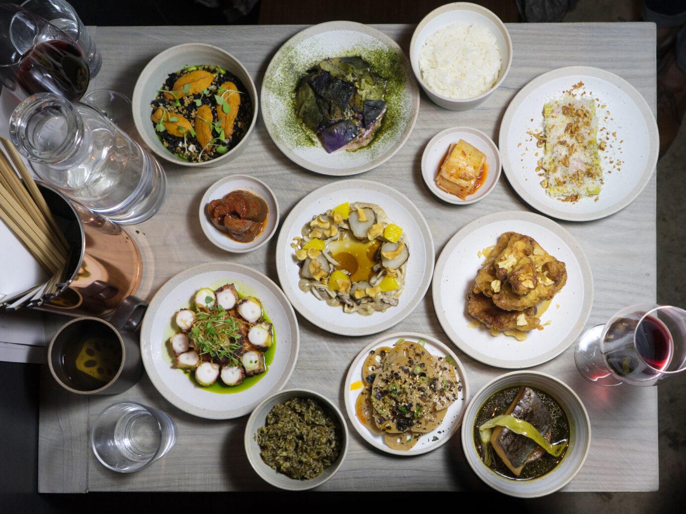 Food spread at Atoboy