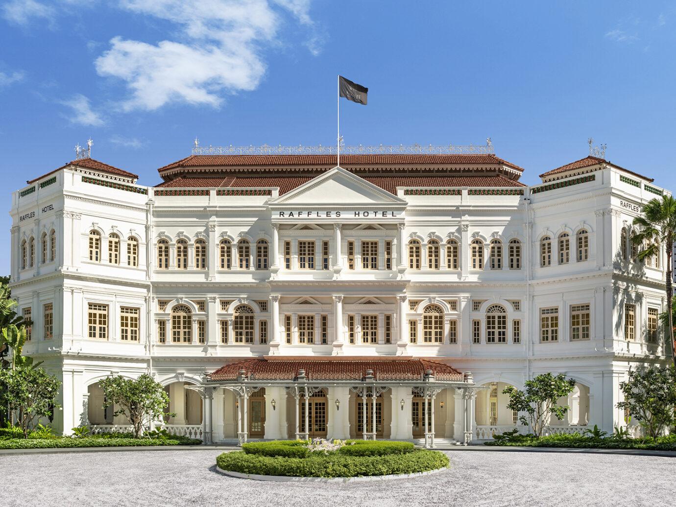 Exterior of Raffles Singapore