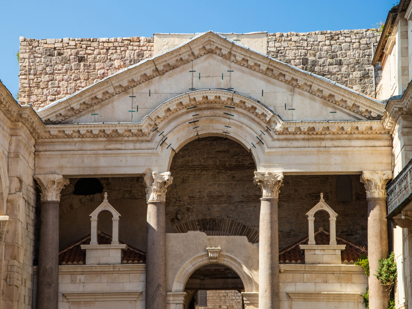 Split, Croatia, Roman emperor Diocletians palace and Peristyle square
