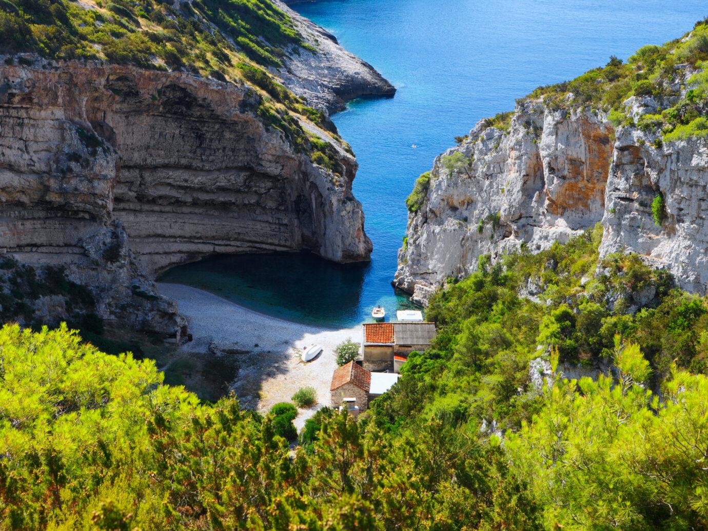 BEach on the Island of Vis, Croatia