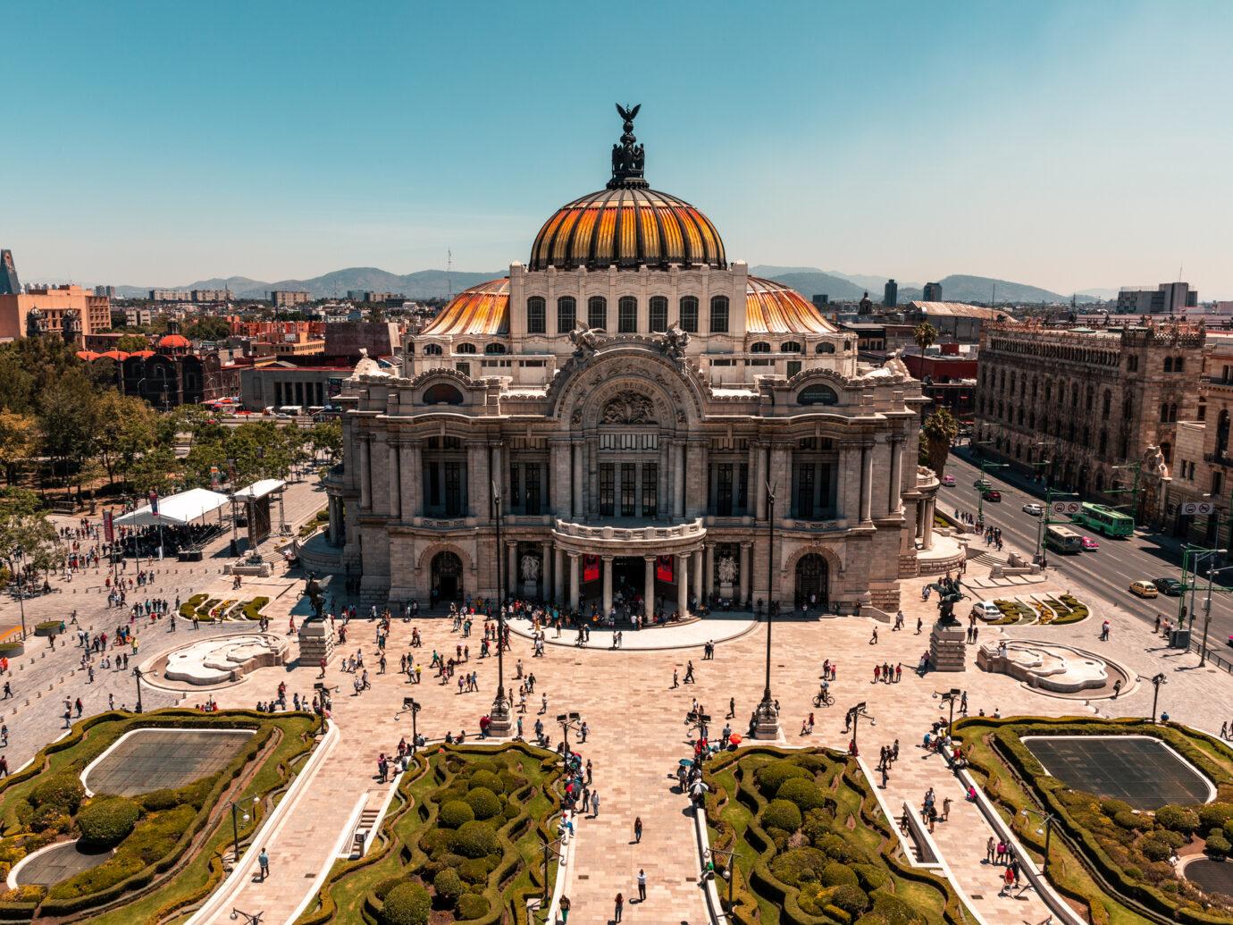 Palacio de Bellas Artes captured from Cafe Don Porfirio.