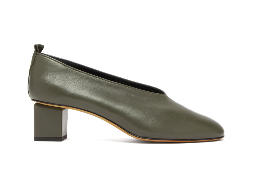 Gray Matters Mildred block-heel leather pumps