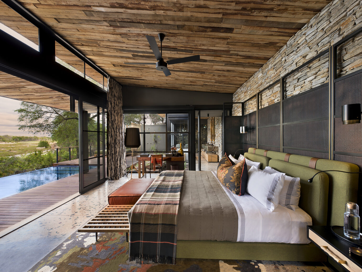Guest room at andBeyond Tengile