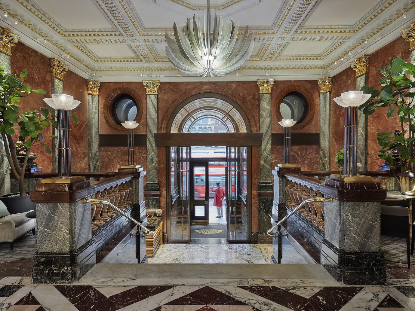 Lobby at the Mandarin Oriental Hyde Park