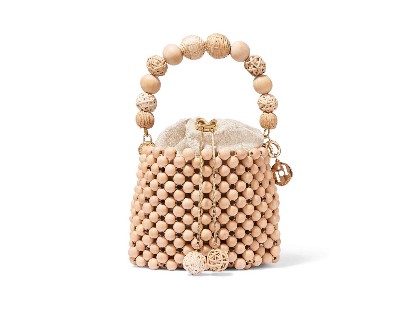 Rosantica Fenice Beaded Bucket Bag