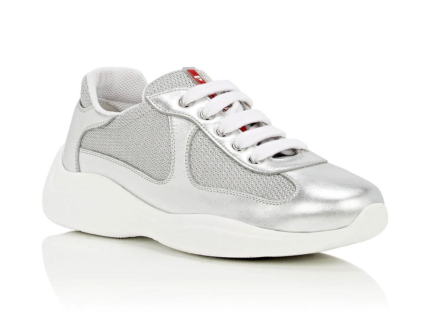 Prada Mixed-Material Sneakers