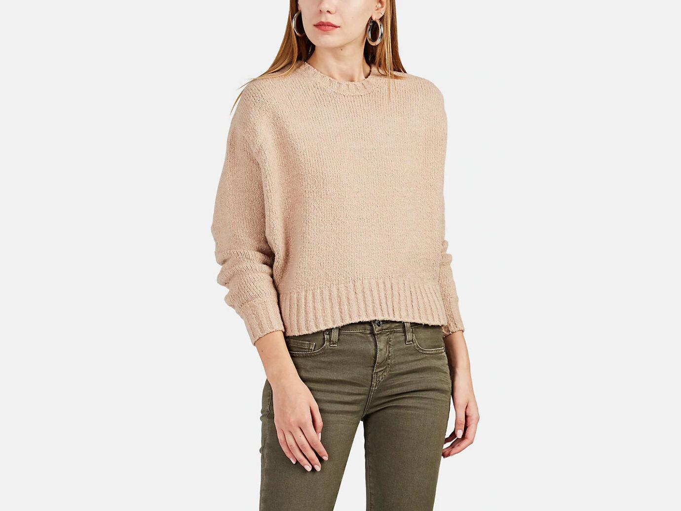 IRO Lish Cotton-Blend Oversized Crop Sweater